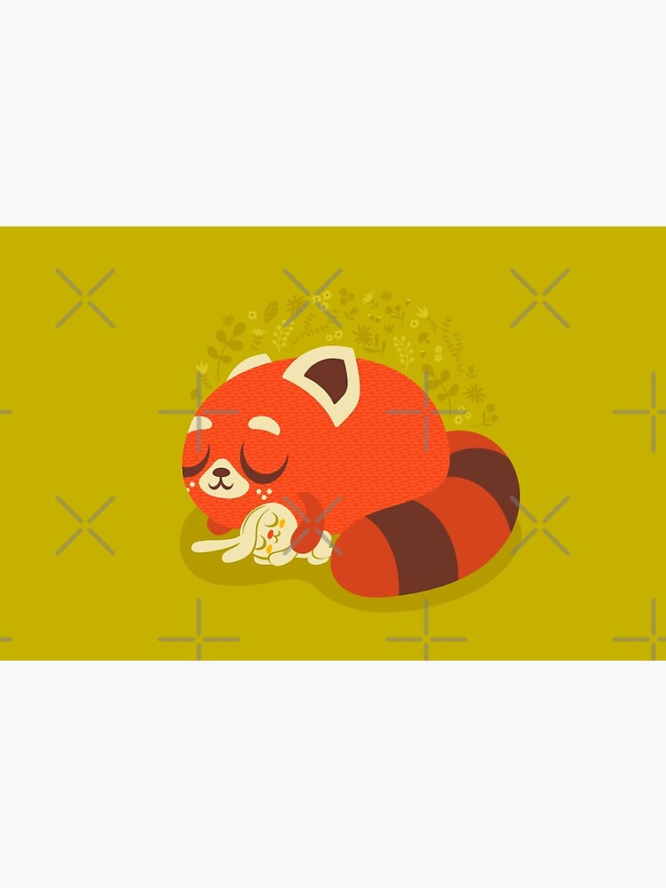 Sleeping Red Panda and Bunny by jsongdesign