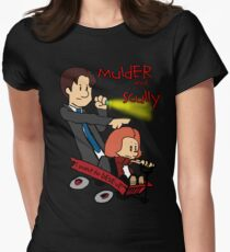 Mulder and Scully Womens Fitted T-Shirt