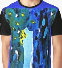 Blue and Green Forest Graphic T-Shirt