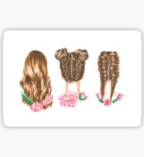 Hairstyles- color Sticker