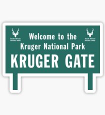 Welcome to the Kruger National Park Sign, South Africa Sticker