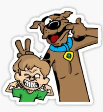 Scooby and Shaggy Sticker