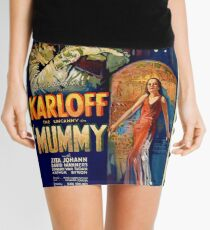 Mummy Boris Karloff Movie Vintage Poster Mini Skirt