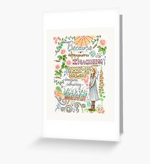 Anne of Green Gables quote                                                                                                 Greeting Card