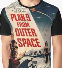Plan 9 From Outer Space Vintage Movie Poster Graphic T-Shirt