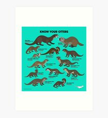 Know Your Otters Art Print