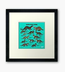 Know Your Otters Framed Print