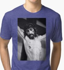 Jesus on the cross Tri-blend T-Shirt