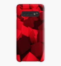 3d bulk of red cubes Case/Skin for Samsung Galaxy