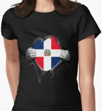 Dominican Republic Flag  Women's Fitted T-Shirt