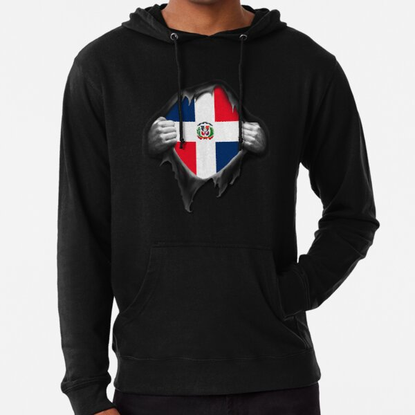 Dominican Republic Country Flag Pride Football Soccer 2-tone Hoodie Pullover