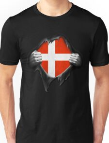 Denmark Flag. Proud Danish Unisex T-Shirt