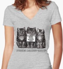 Pussies Against Trump Women's Fitted V-Neck T-Shirt