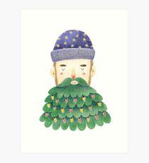 Hipster Christmas Art Print