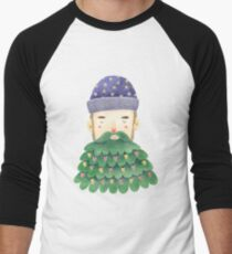 Hipster Christmas Baseball ¾ Sleeve T-Shirt