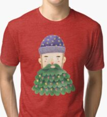 Hipster Christmas Tri-blend T-Shirt