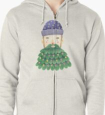 Hipster Christmas Zipped Hoodie