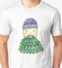 Hipster Christmas Slim Fit T-Shirt