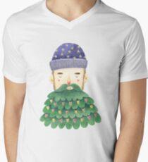 Hipster Christmas V-Neck T-Shirt