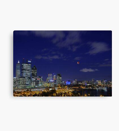 Lunar Eclipse - Perth Western Australia  Canvas Print