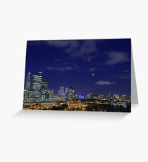 Lunar Eclipse - Perth Western Australia  Greeting Card