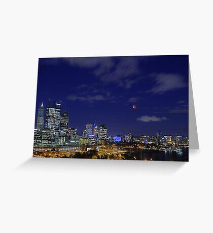 Lunar Eclipse - Perth Western Australia  Greeting Card