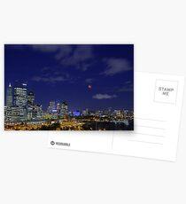 Lunar Eclipse - Perth Western Australia  Postcards