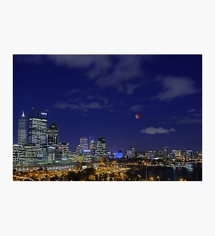 Lunar Eclipse - Perth Western Australia  Photographic Print