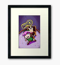 Link finds a Key Framed Print
