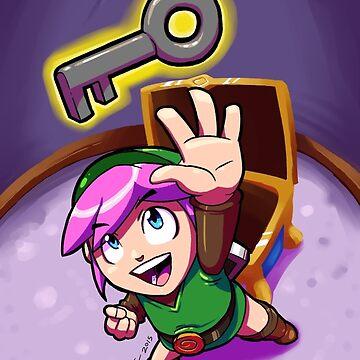 Link finds a Key by brianfarrarart