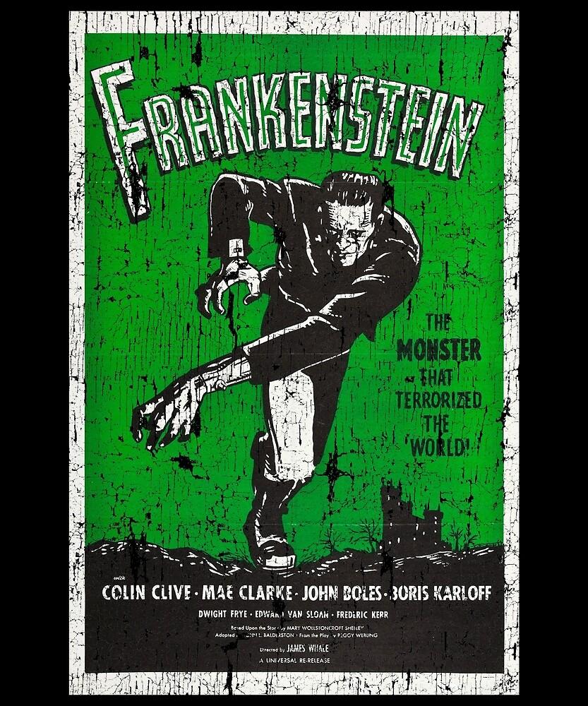 Frankenstein Boris Karloff Movie Vintage Poster by Flying Joe