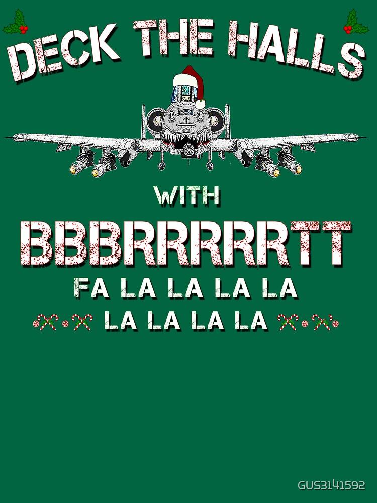 A-10 WARTHOG Christmas T-shirt by GUS3141592