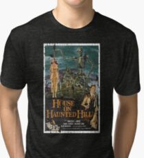 House on Haunted Hill Movie Vintage Poster Tri-blend T-Shirt
