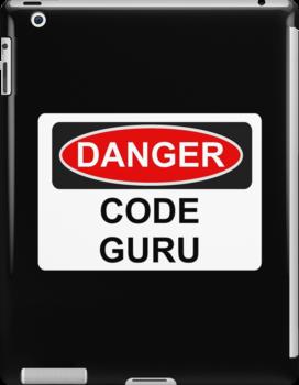Danger Code Guru - Warning Sign by graphix