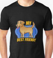 Camiseta ajustada Golden Retriever es mi mejor amigo