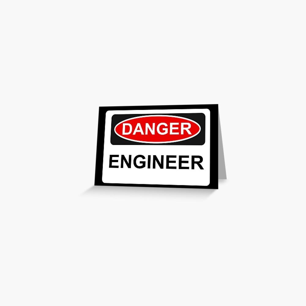 Gefahreningenieur - Warnzeichen Grußkarte