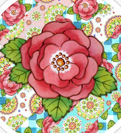 Mandala and Rose Stripe Sticker