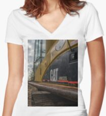 Excavator Women's Fitted V-Neck T-Shirt