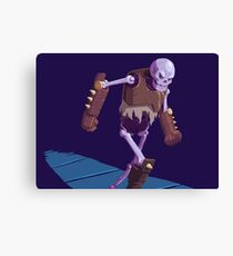 Skeleton Warrior Canvas Print