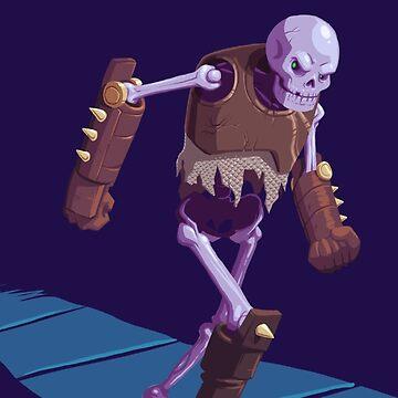 Skeleton Warrior by brianfarrarart