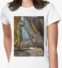 Excavator Womens Fitted T-Shirt