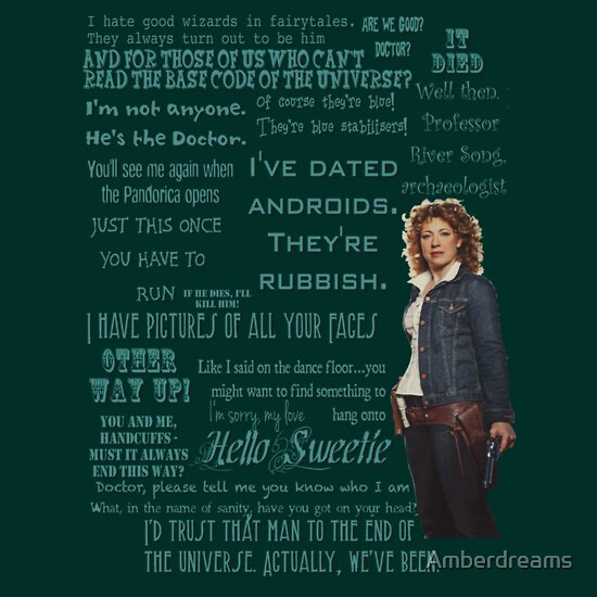 River Song Quotes | Unisex T Shirt, a t shirt of tv, dr who, river