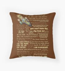 Firefly quotes Throw Pillow
