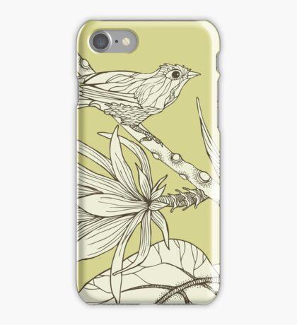 Bird on Orchid Cactus iPhone Case/Skin