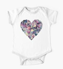 Watercolor Funny Heart  Kids Clothes