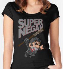 SUPER NEGAN Women's Fitted Scoop T-Shirt