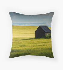 Corn fields Throw Pillow