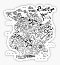 Brooklyn Illustrated Map Sticker