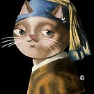 Cat with the Pearl Earring by jrock1184