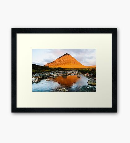 Stob Dearg at Sunrise Framed Print